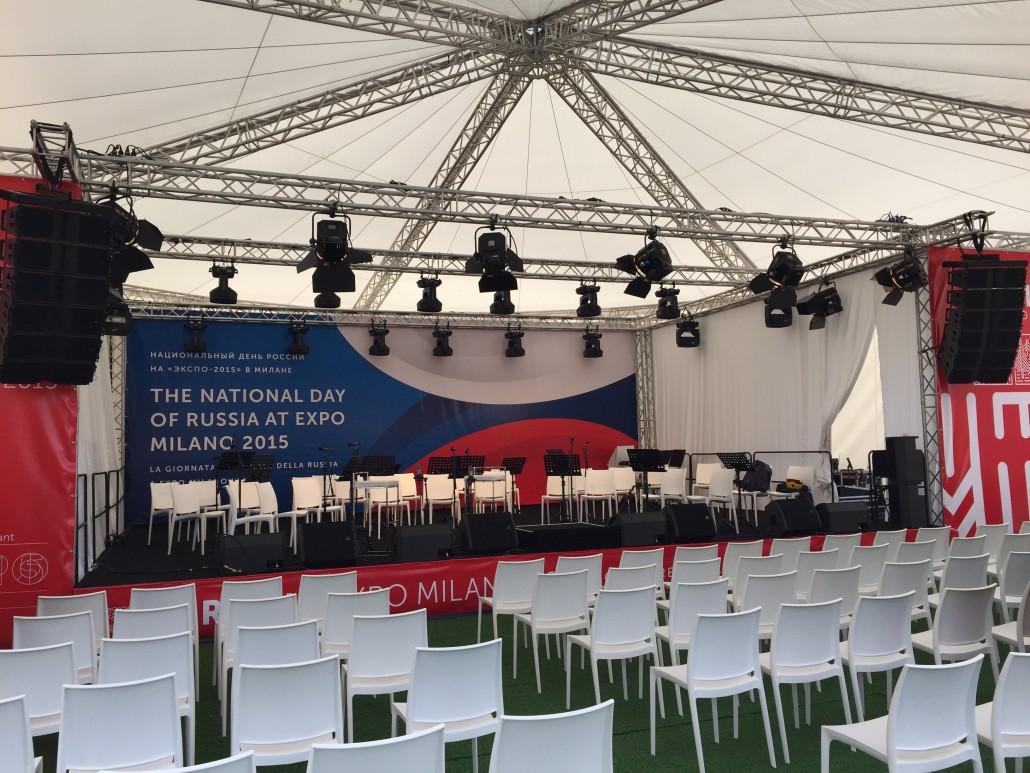 Sonorisation d'un concert à l'Expo Milan 2015