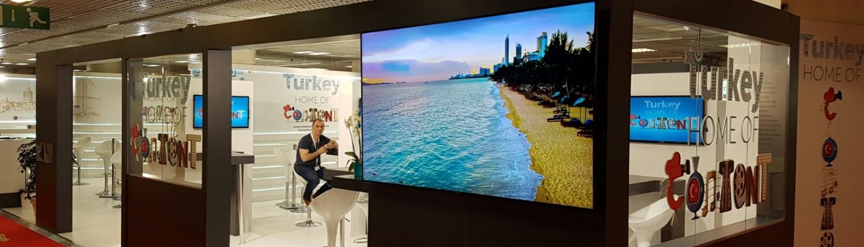 MipTV 55 inch display
