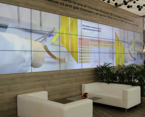 HMI Hanover exhibition, seamless video wall
