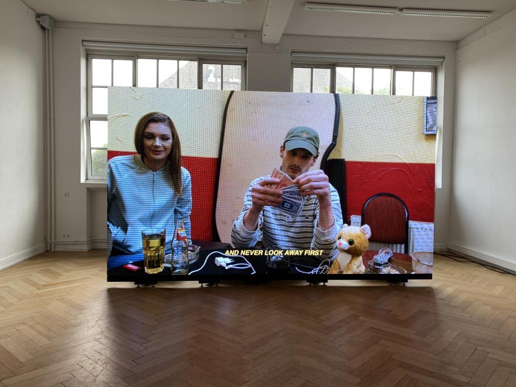 Videowand im Museum