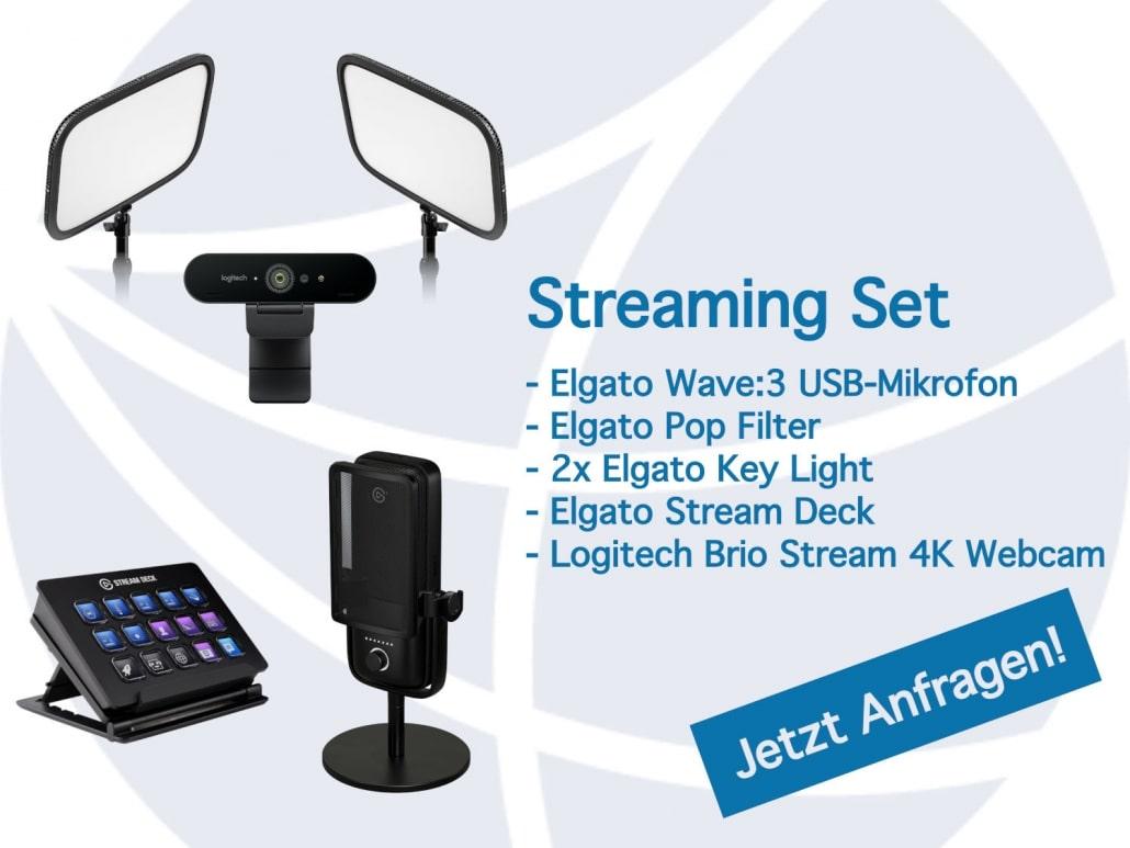 Professionelles Streaming Set für die Videokonferenz im Home Office